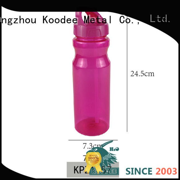 hand hell clear plastic water bottles touching for milk Koodee