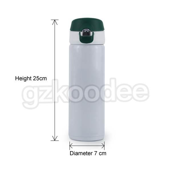 Flip Cap Stainless Steel  Double Wall Vacuum Flask 500ml Koodee-2