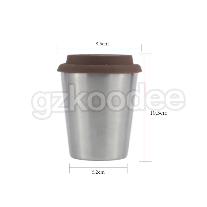 double wall stainless steel 304 coffee mug cafe office vacuum tumbler car thermos coffee cup 10OZ Koodee-2