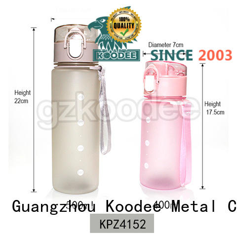 Koodee food-grade clear plastic water bottles whole for coffee