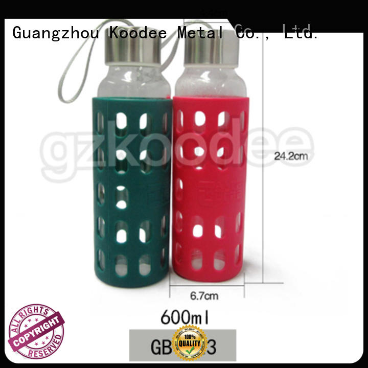 direct manufacturer glass water bottle with lid cheap factory price for drinking Koodee
