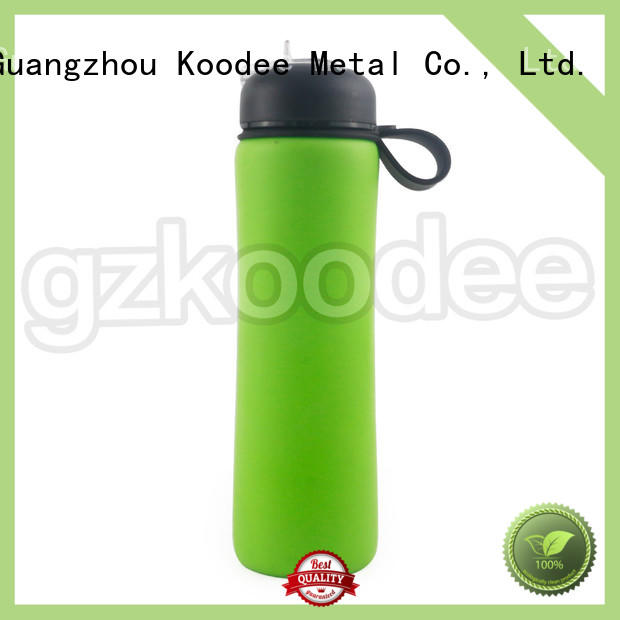 loop collapsible silicone water bottle by bulk for water Koodee