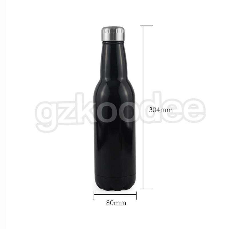 Beer Shape Water Bottle Double Wall Vacuum Flask 280 ml/350 ml/500 ml/750 ml-2