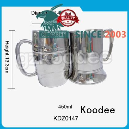 Koodee recycable stainless wine glass unbreakable for martini