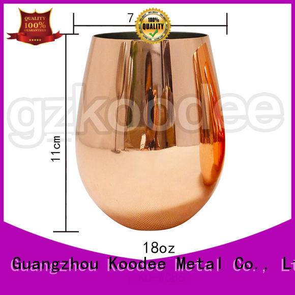 shatterproof stainless steel stemless wine glasses for beverage Koodee
