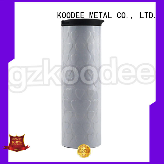 Koodee BPA-free stainless steel sport water bottle nice design for liquid storage