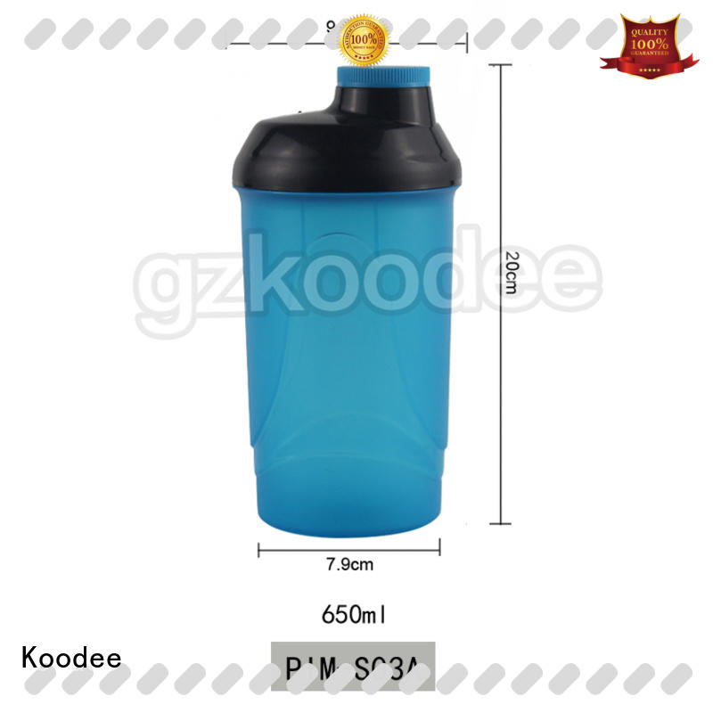 Koodee competitive price glass water bottle with plastic outside low price for student