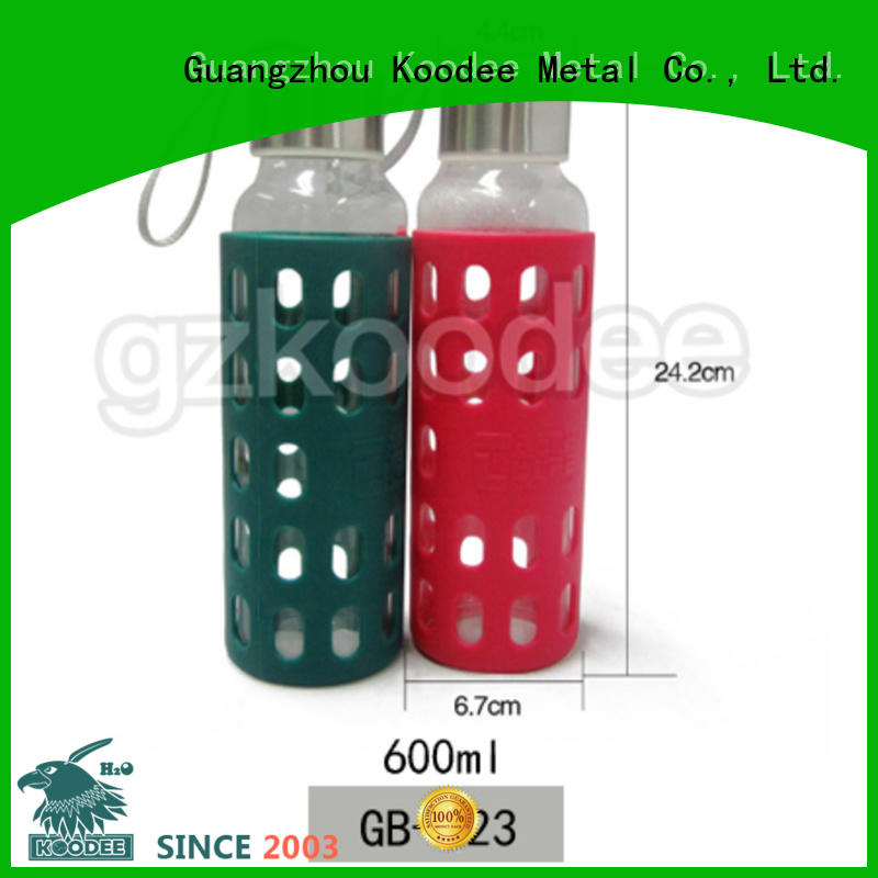 hot-sale glass silicone bottle at discount for drinkware Koodee