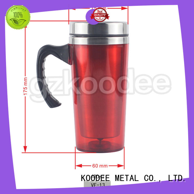 Koodee steel thermos coffee cup logo printed for beer