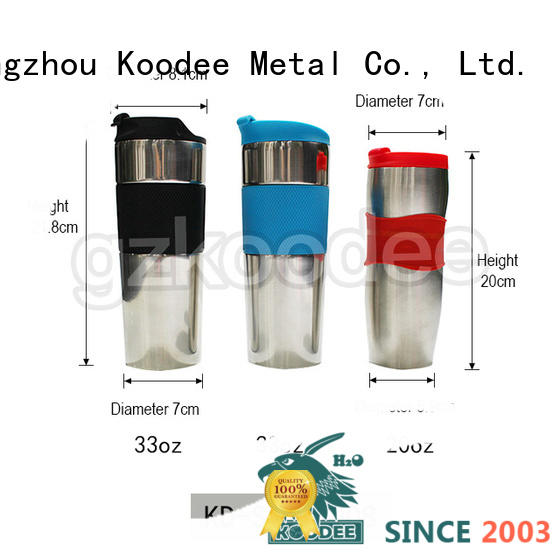 Coffee mugs wholesale double wall stainless steel tumbler 22oz 33oz Koodee 2019 new design