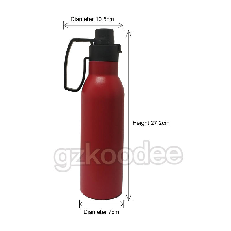 Koodee New Design Easy Portable Double Wall Insulated Vacuum Stainless Steel Water Bottle-2