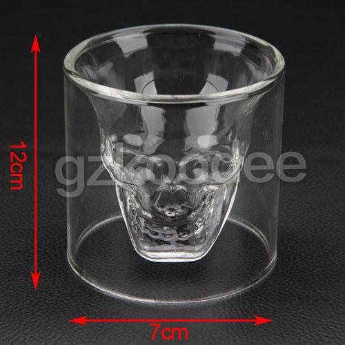 2019 new Fashion skull shape glass cup for wine 200ml Koodee-2