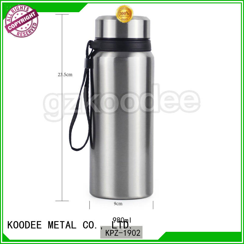 Koodee white vacuum drink bottle high-end for student