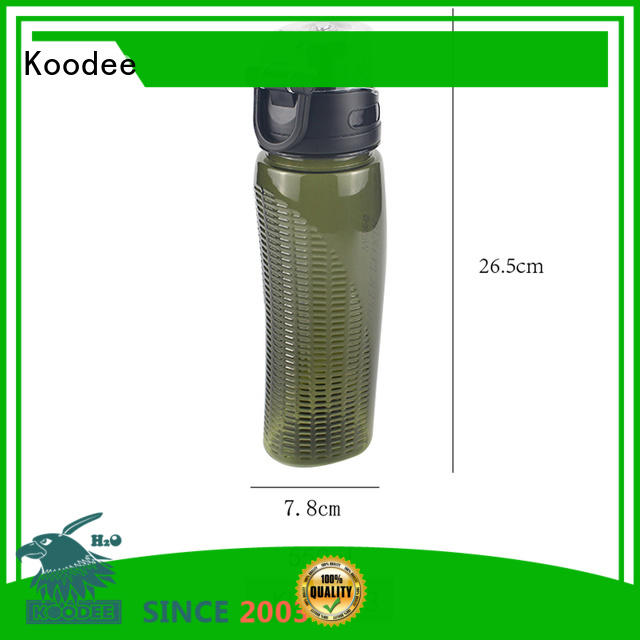 Koodee silicone nozzle clear plastic water bottles petg for coffee