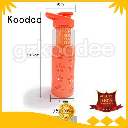 Koodee food-grade glass water bottle or drinkware