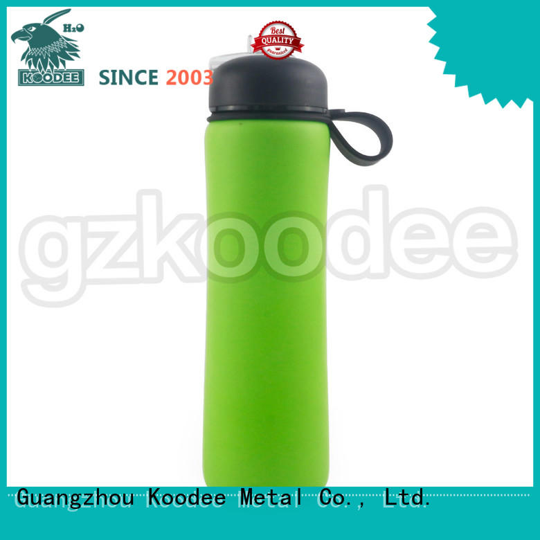 collapsible silicone water bottle customized for water Koodee