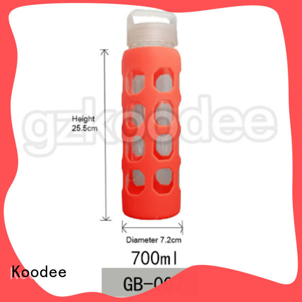 Koodee BPA-free glass bottles for water free sample for beverage