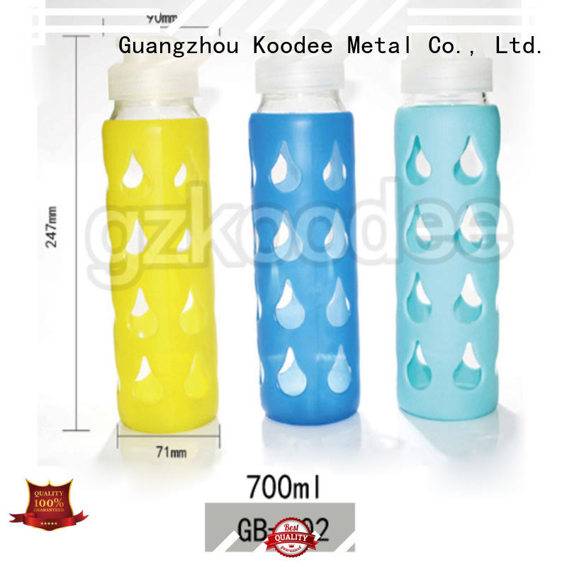 Koodee good glass water bottle with handle for beverage