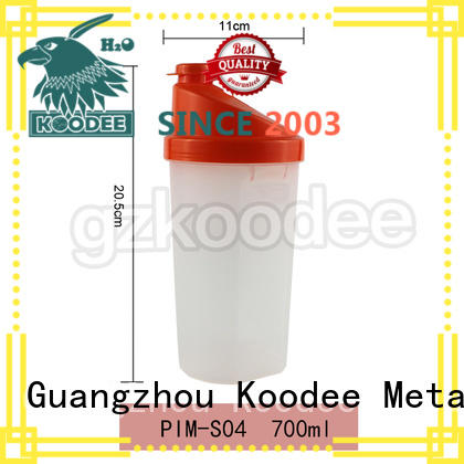 Koodee square shape plastic drinking bottles fashion design for liquid