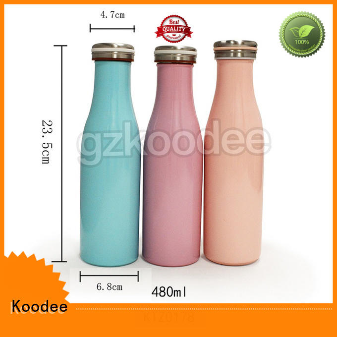 Double Wall Vacuum Flask Thermal Insulated Stainless Steel Cute Water Bottle
