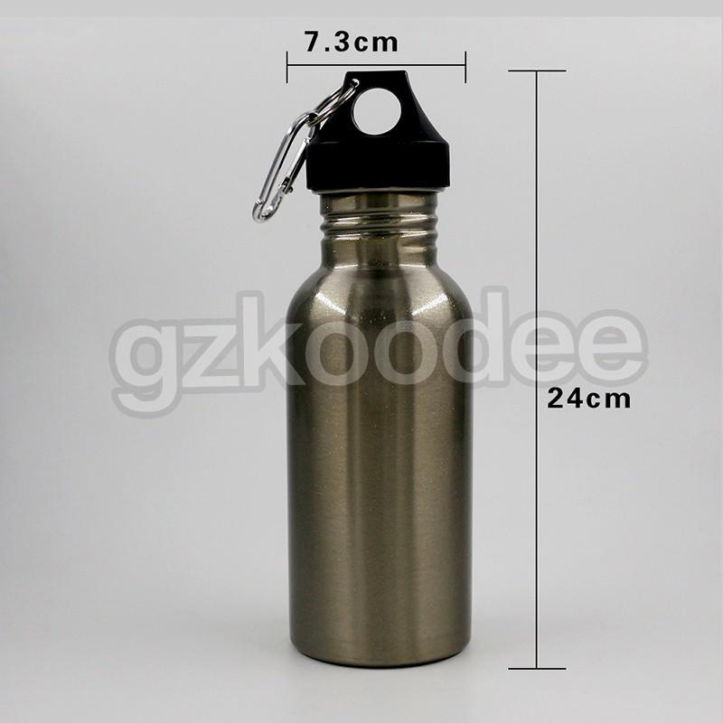 Koodee Customized single wall stainless steel portable water bottles 350ml/500ml/600ml/750ml/1000ml-2