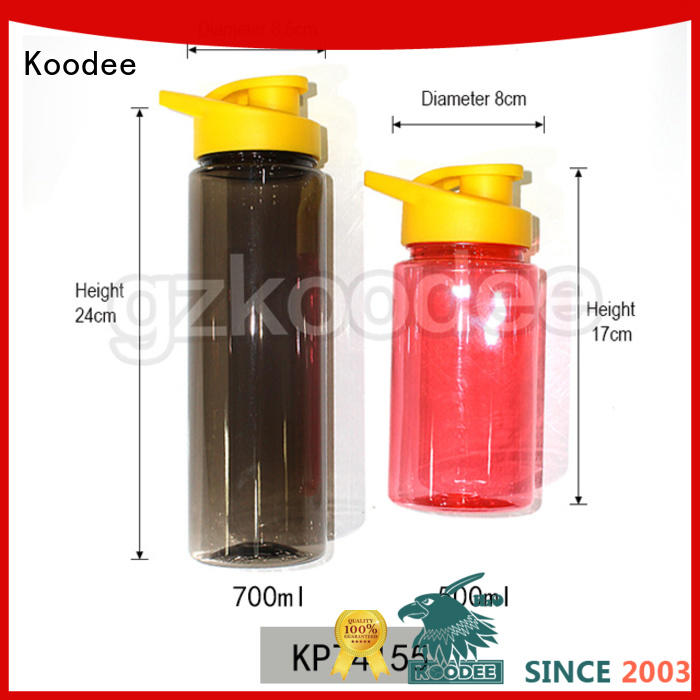 Competitive price for best plastic water bottle for drinking from Koodee