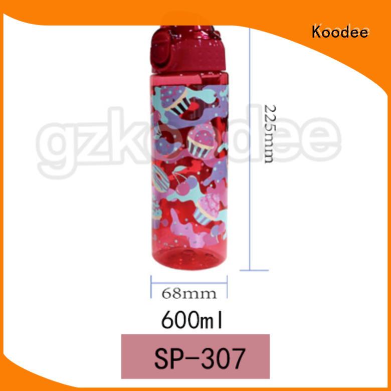 plastic water bottle dumbbell shape for drinking Koodee