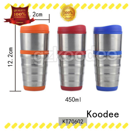 Koodee food-grade stainless steel coffee tumbler logo printed for milk