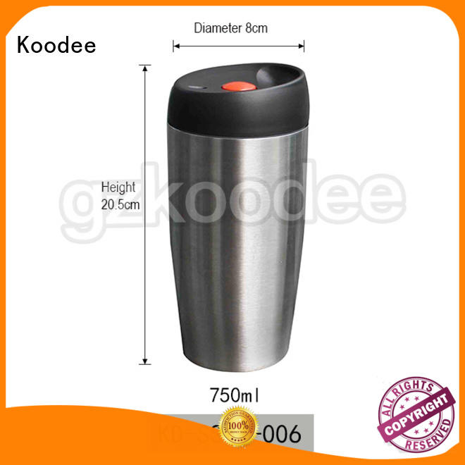 Koodee wall insulated coffee tumbler simple design for drinkings