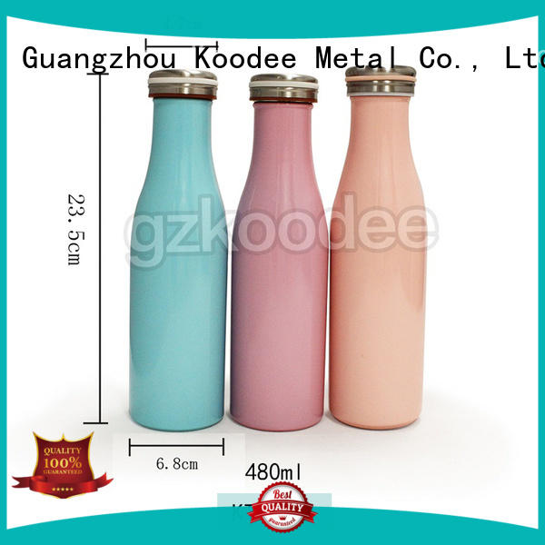 Koodee color stainless steel thermos bottle contact now for drinking