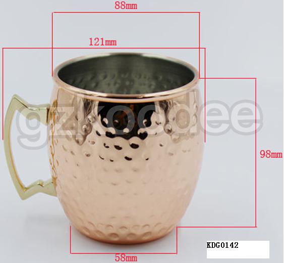 2019 new unbreakable stainless steel cooper plating wine mug for whiskey 500ml Koodee-2