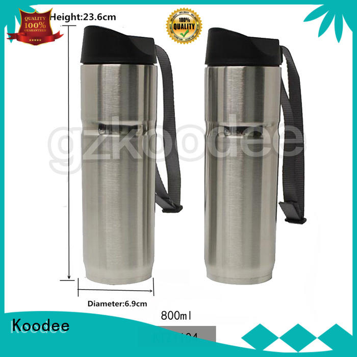 Koodee stainless steel vacuum coffee mug free sample for milk