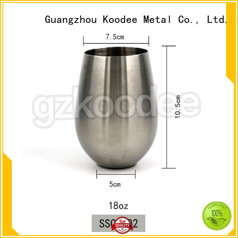 Koodee high-end stainless steel wine cups stainless at discount