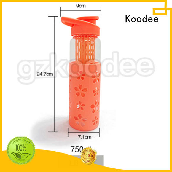 Koodee direct manufacturer glass bottle with silicone sleeve high-quality for glassware